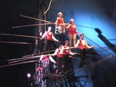 The 7 man pyramid / the flying Wallendas