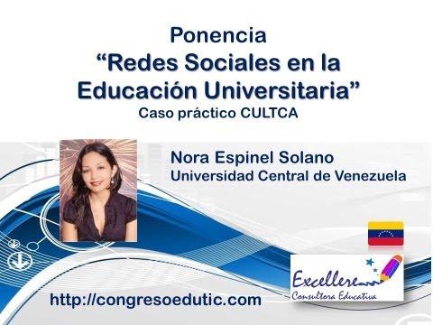Ponencia de Nora Espinel: Las redes sociales en la enseñanza universitaria