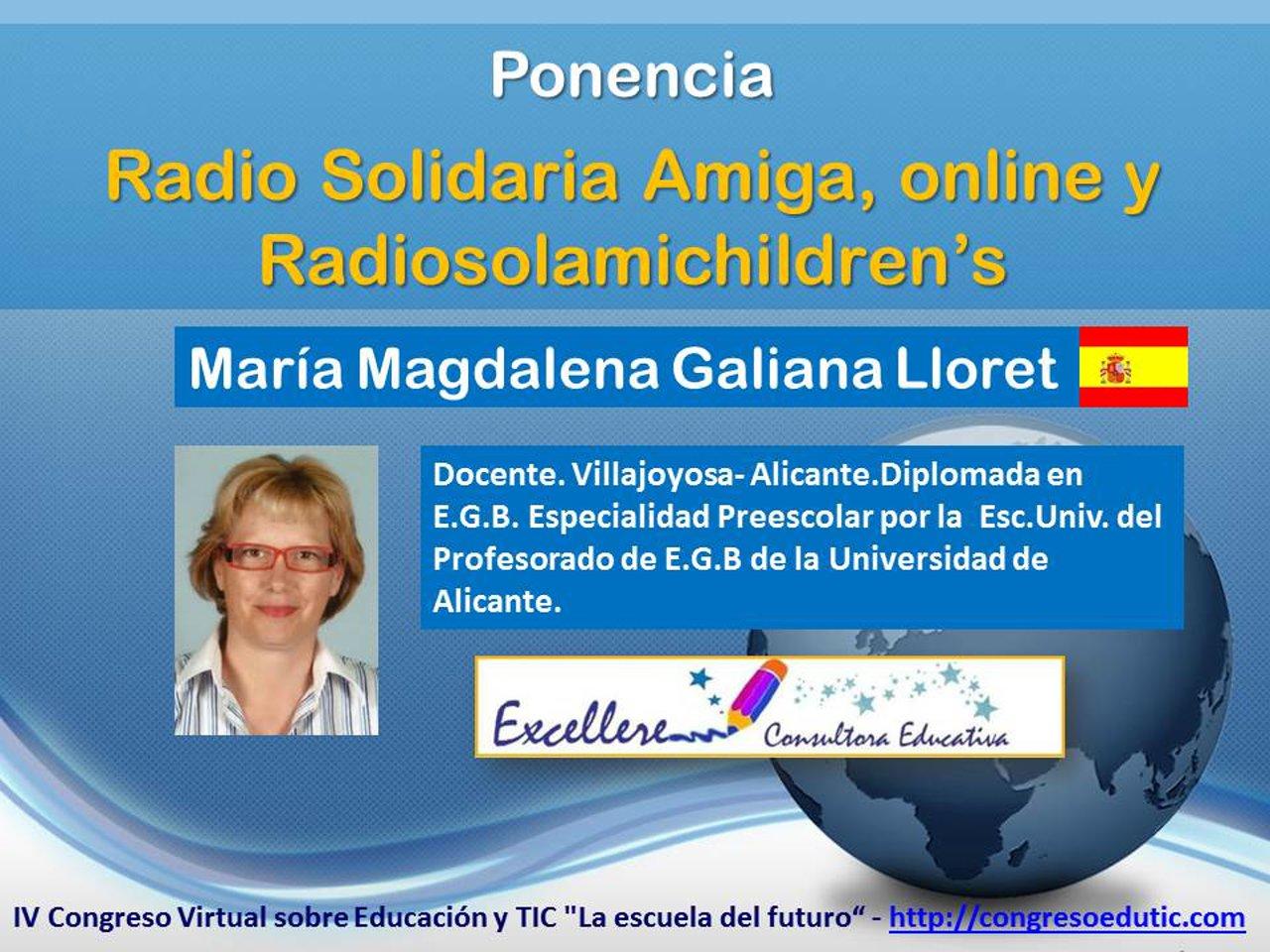 Ponencia de María Magdalena Galiana