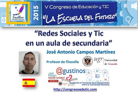 Ponencia V Congreso TIC: Redes Sociales y TIC en un aula de secundaria