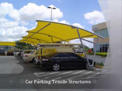 polycarbonate shade structure manufacturers, gazebo tensile structures, Car Parking Tensile Structu…