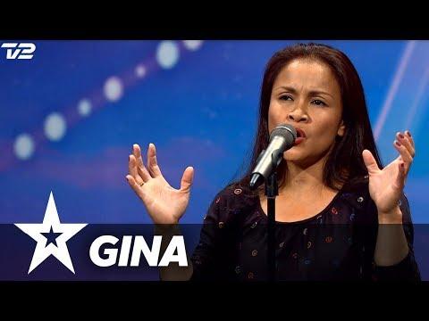 Gina I Danmark har talent 2018 I Audition 1