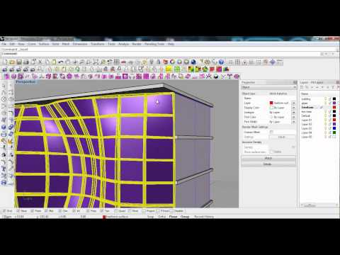Advanced BIM techniques in Rhino 3d: Curtain Panels