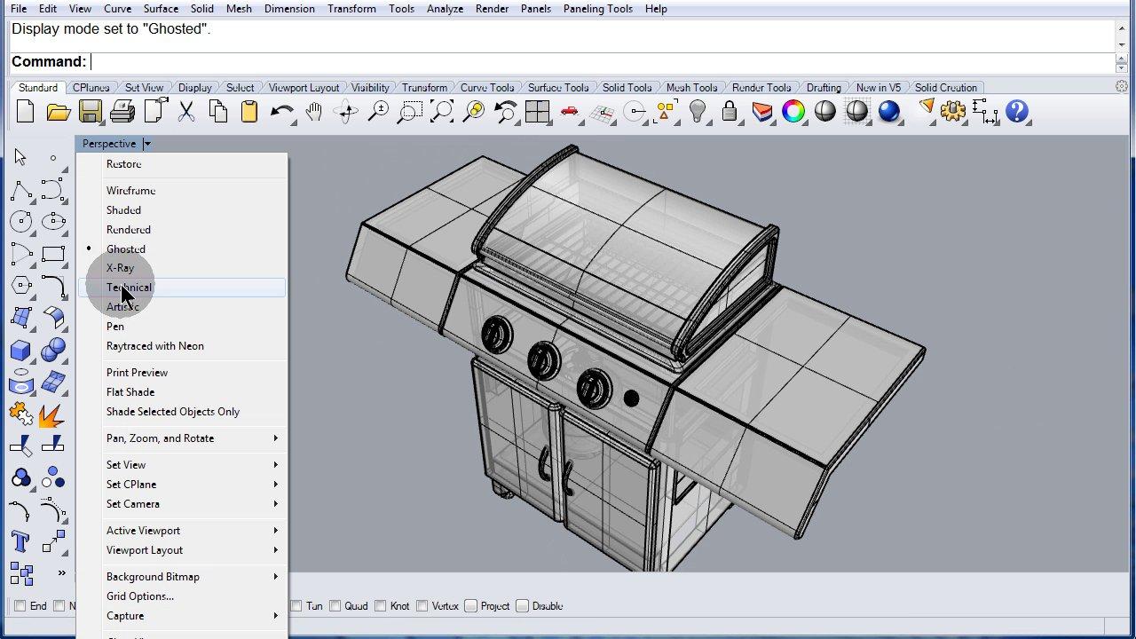Rhino Visual Tips 5.0: Chapter 9: Rhino Options: Display Modes