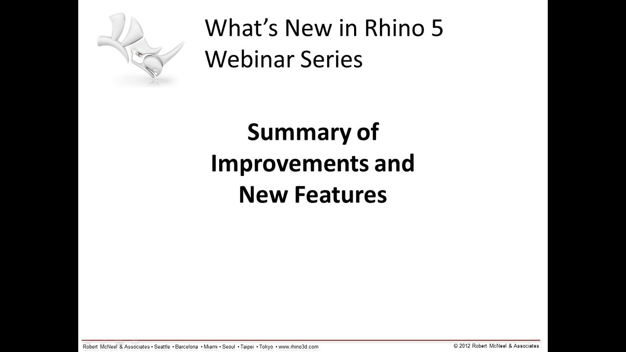 Rhino 5: Summary of Improvements and New Features