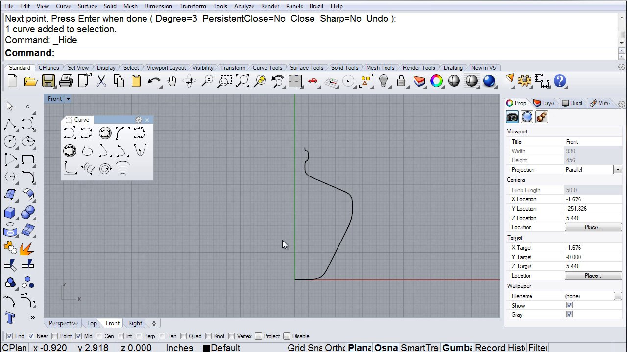 Rhino Visual Tips 5.0: Chapter 3: Curves: Bottle