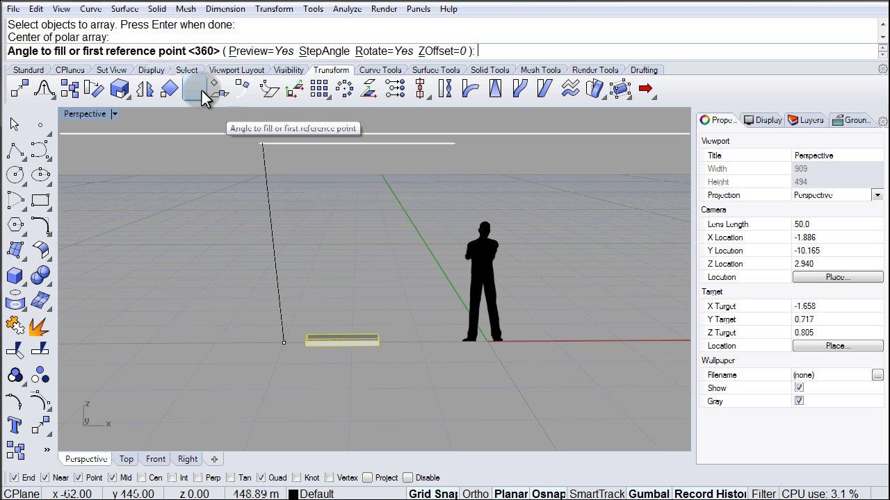 Rhino 5.0 Visual Tips: Chapter 7: Transform: Array