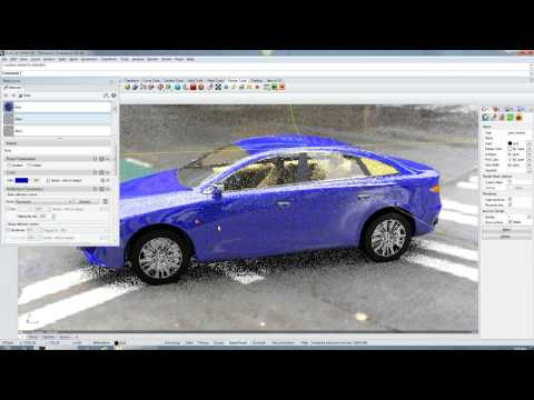 Audi A6 demo (Neon plugin for Rhino 5 and Caustic R2500 PC board)