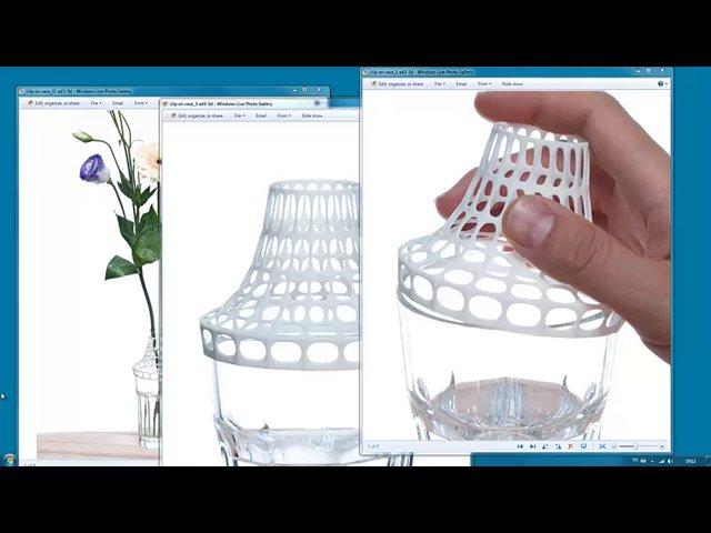 Clip on vase tutorial