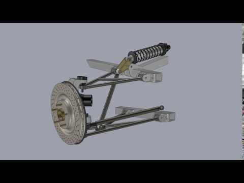 Automotive Suspension Prototype Animation - Rhino 3D & Bongo