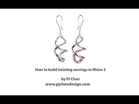 How to build twisting earrings in Rhino 5