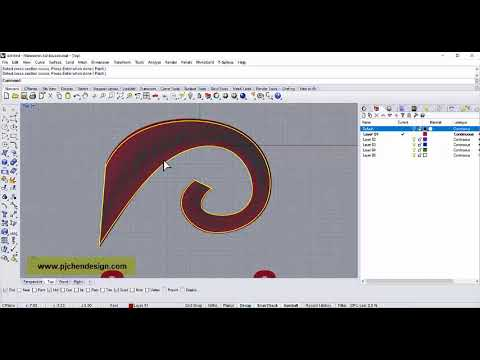 Rhino 3D Technique: How to Sweep Curve Correctly