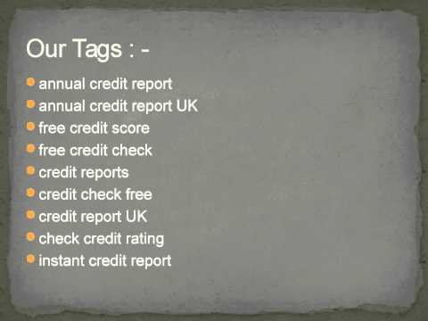 annual credit report @ creditreportcheckscore.co.uk