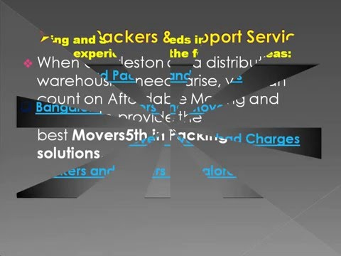 Movers5th in Packers Services at Hyderabad Packers and Bangalore Packers