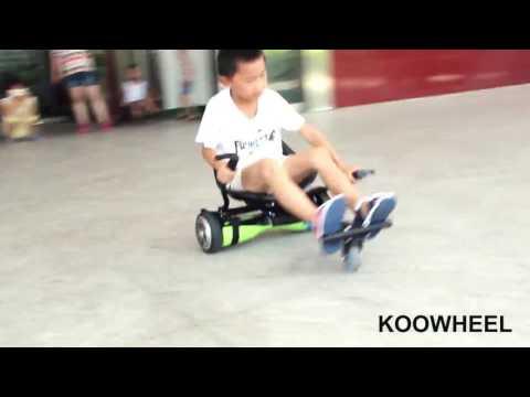 Koowheel children's hoverboard cart hoverseat show