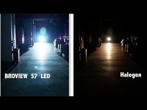 8000 Lumen Philips Led Headlights Kit VS Halogen Review| BROVIEW S7
