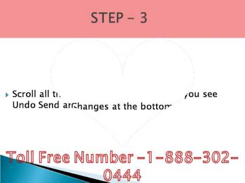 How to UndoSentMail in Gmail Call 1-888-302-0444