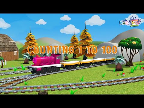 Counting to 100 Song | Count Numbers On The Train | Big Numbers Song | Learn To Count for Kids