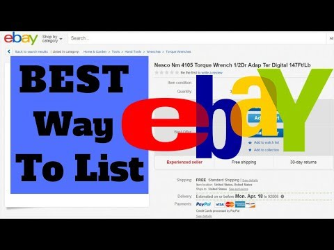 BEST EVER Strategy To List On Ebay: FROM ANYWHERE