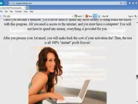 Email processing system jobs How to make money at home!