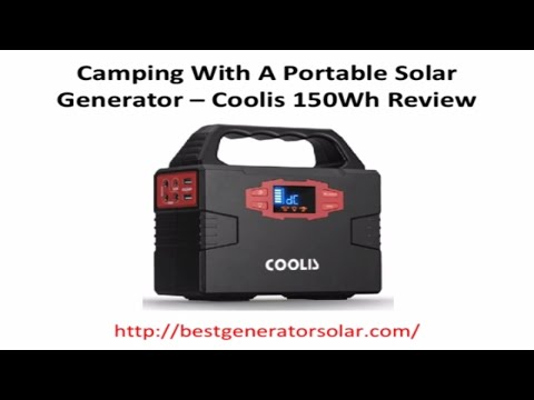 Coolis 150Wh Solar Powered Generator