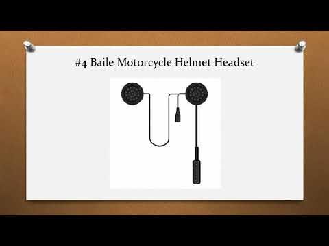 Top 10 Best Motorcycle Helmet Speakers