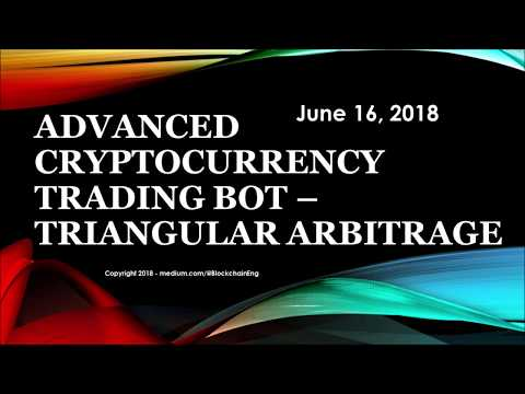Triangular Arbitrage with Cryptocurrency - Algo Crypto Trading Bot