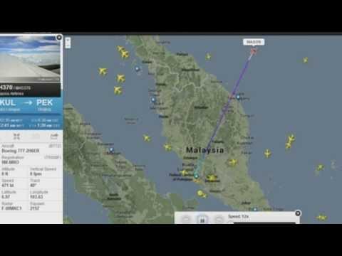 Vídeo de Radar mostrando OVNI no espaço aéreo do Boeing desaparecido