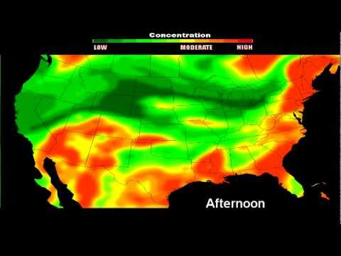 Chemtrail Hazard Map for July 25. 2011