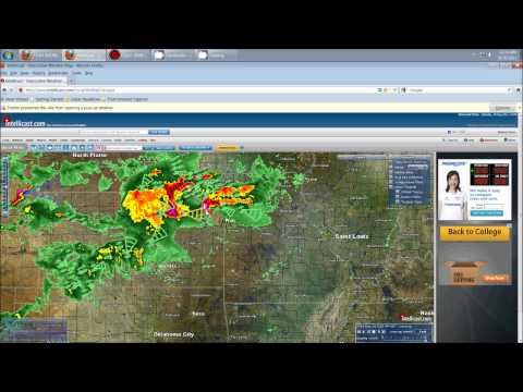 8/20/2011 -- Tornadoes heading towards Kansas City, and into central Missouri