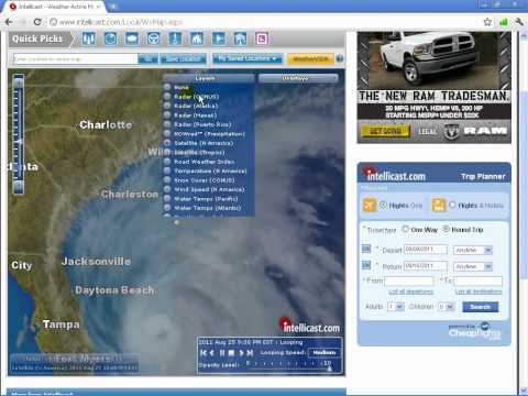 250811 Hurricane Irene with a huge band of chemtrails along East coast
