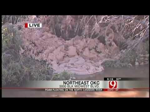 NEW: Strange Foam in Oklahoma River Has Residents Worried - Oct. 10, 2011