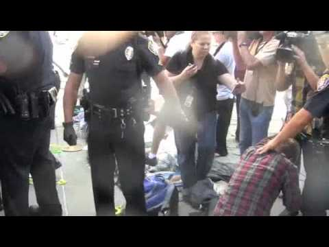 Police Macing at Occupy San Diego