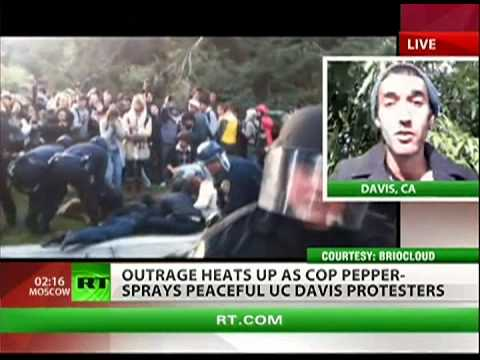 UC -- Davis protester speaks out about pepper spray incident