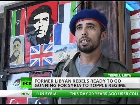 Libya rebels go gunning for Syria to topple Assad