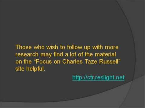 Charles Taze Russell - Founder of the JW Org?