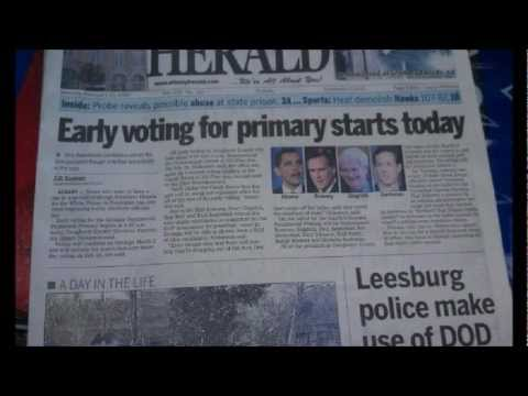 Ron Paul Blatantly Blacked Out of Georgia Newspaper 2/15/12