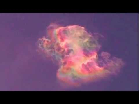 RARE RAINBOW IN CLOUDS!! HAARP? CHEMTRAILS? CHEMBOW?