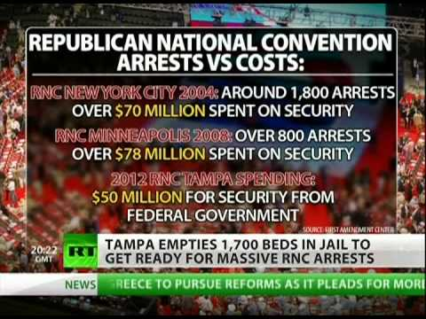 Tampa police prepare for mass arrests during RNC