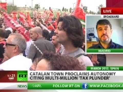 Catalonia town proclaims autonomy, cites 'tax plunder'