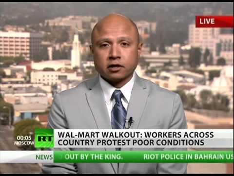 Walmart warehouse workers walk; seek unionization