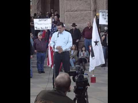 State Capital Gun Rally, Austin, Tx - 1/19/13 Richard Mack