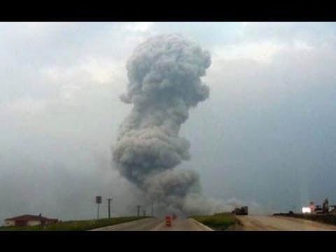 Waco texas fertilizer plant explosion video - Raw footage 4-17-2013
