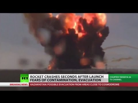 Russian space rocket crashes with 600 tons of toxic fuel