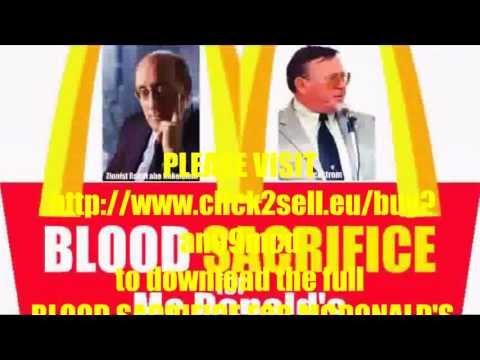 BLOOD SACRIFICE FOR MCDONALD'S (DVD) feat Zionist Rabbi abe finkelstein & James Wickstrom (HQ)