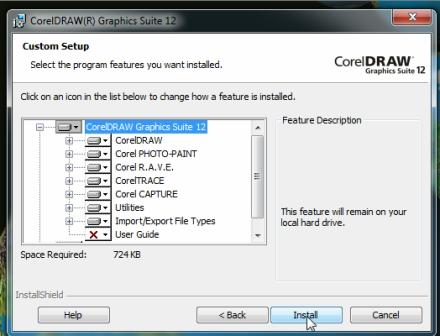 Corel instal export EPS