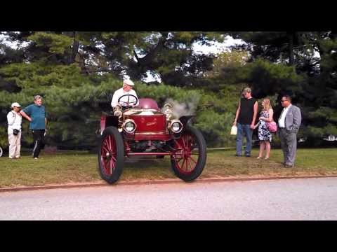 Starting A Stanley Steamer Pt 2  at the Hagley Museum and Library Car Show 2013