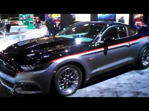 SEMA 2014 Mustangs at the Ford display walk about