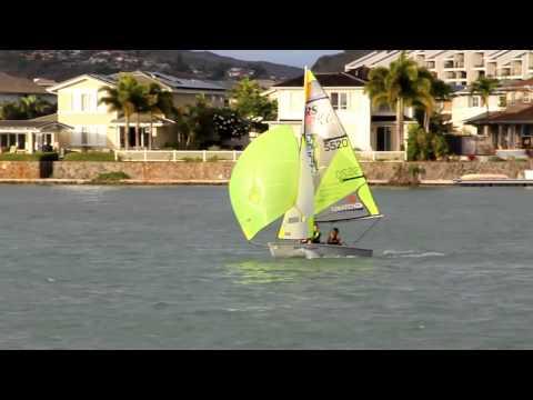 Marina sailing Feva by Sven Wesley