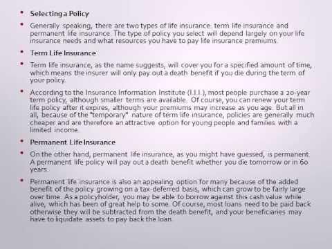 Life Insurance Basics  Getting Started